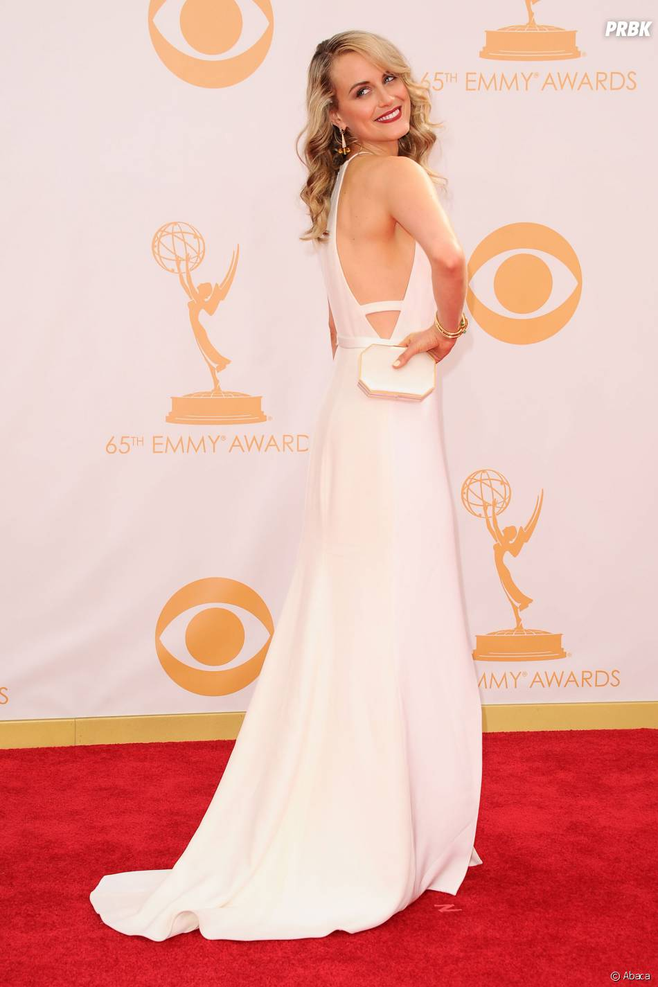 Taylor Schilling aux Emmy Awards 2013 le 22 septembre 2013 à Los Angeles