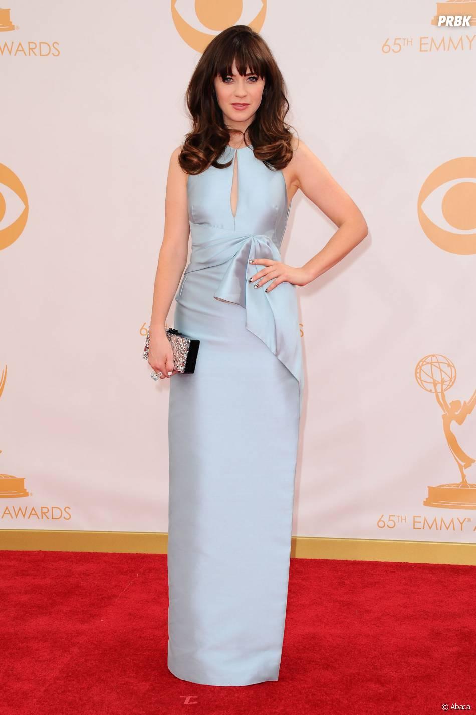 Zooey Deschanel aux Emmy Awards 2013 le 22 septembre 2013 à Los Angeles