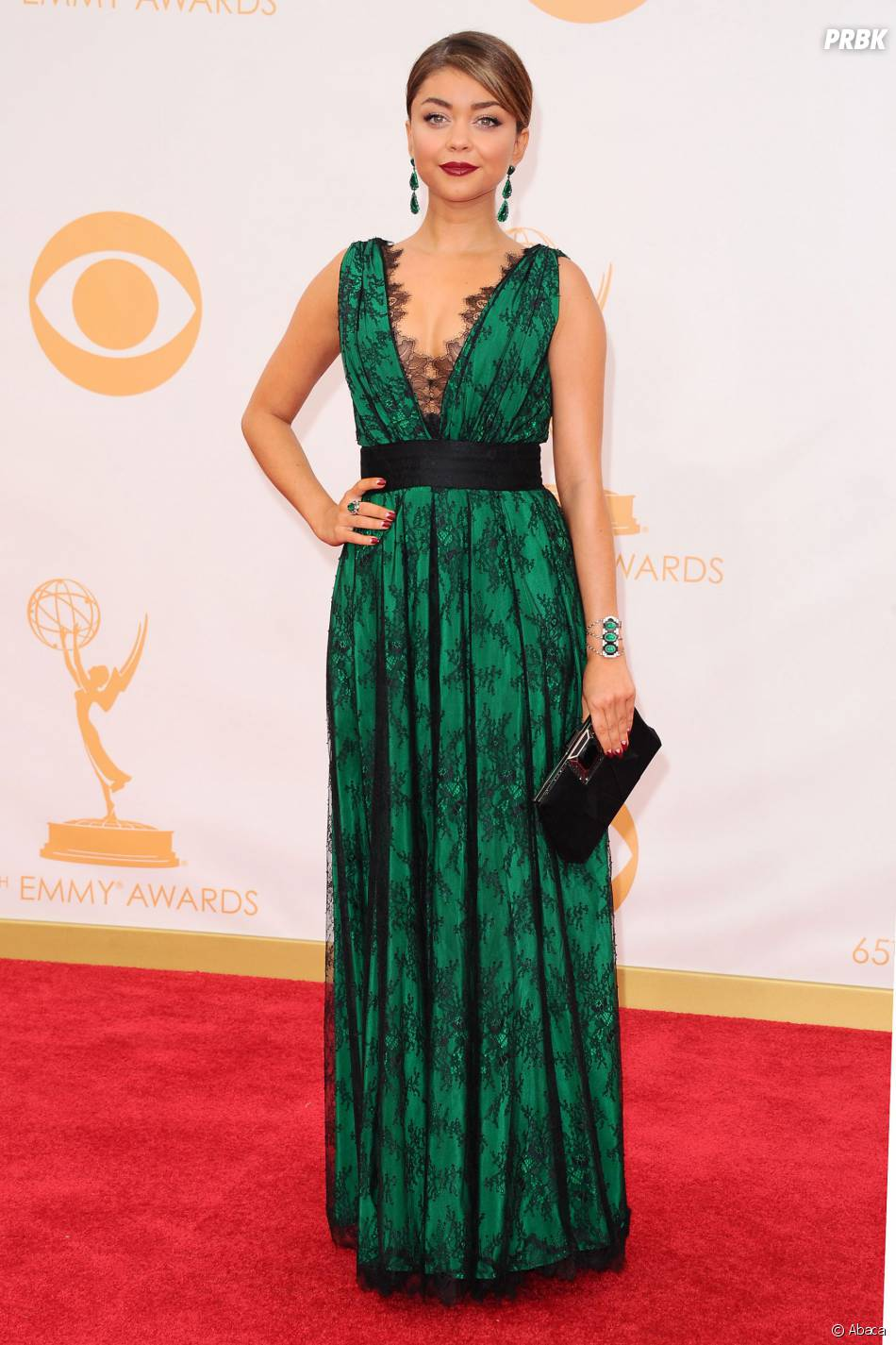 Sarah Hyland aux Emmy Awards 2013 le 22 septembre 2013 à Los Angeles
