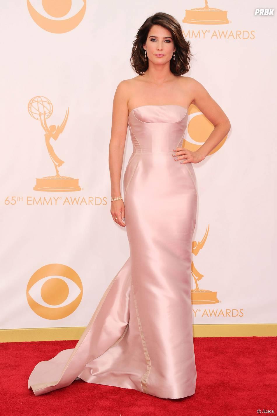 Cobie Smulders aux Emmy Awards 2013 le 22 septembre 2013 à Los Angeles