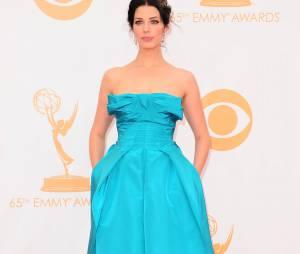 Jessica Pare aux Emmy Awards 2013 le 22 septembre 2013 à Los Angeles