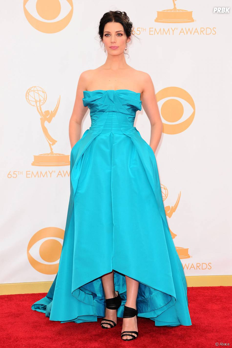 Jessica Pare aux Emmy Awards 2013 le 22 septembre 2013 à Los Angeles