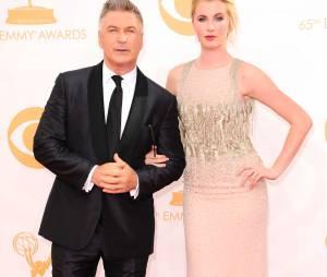 Alec Baldwin et sa fille Ireland aux Emmy Awards 2013 le 22 septembre 2013 à Los Angeles