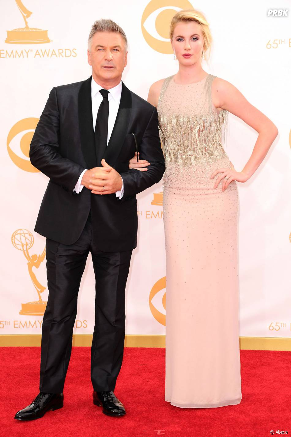 Alec Baldwin et sa fille Ireland aux Emmy Awards 2013 le 22 septembre 2013 à Los Angeles