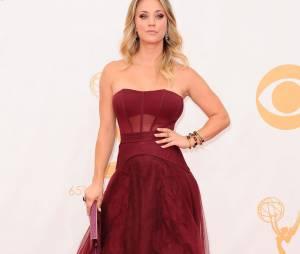 Kaley Cuoco aux Emmy Awards 2013 le 22 septembre 2013 à Los Angeles