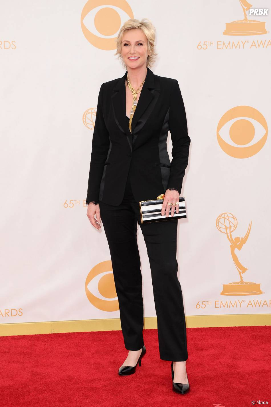 Jane Lynch aux Emmy Awards 2013 le 22 septembre 2013 à Los Angeles