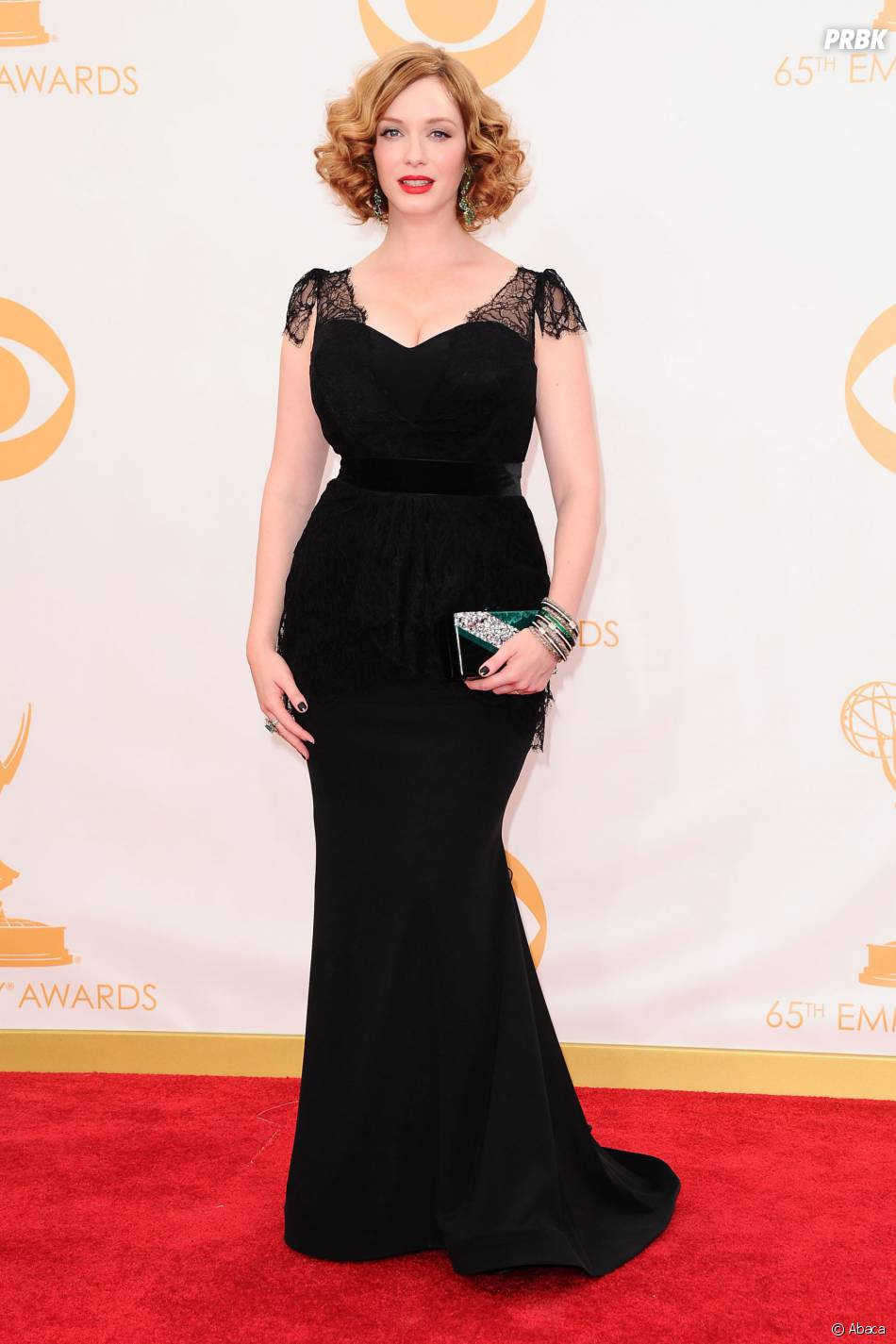 Christina Hendricks aux Emmy Awards 2013 le 22 septembre 2013 à Los Angeles