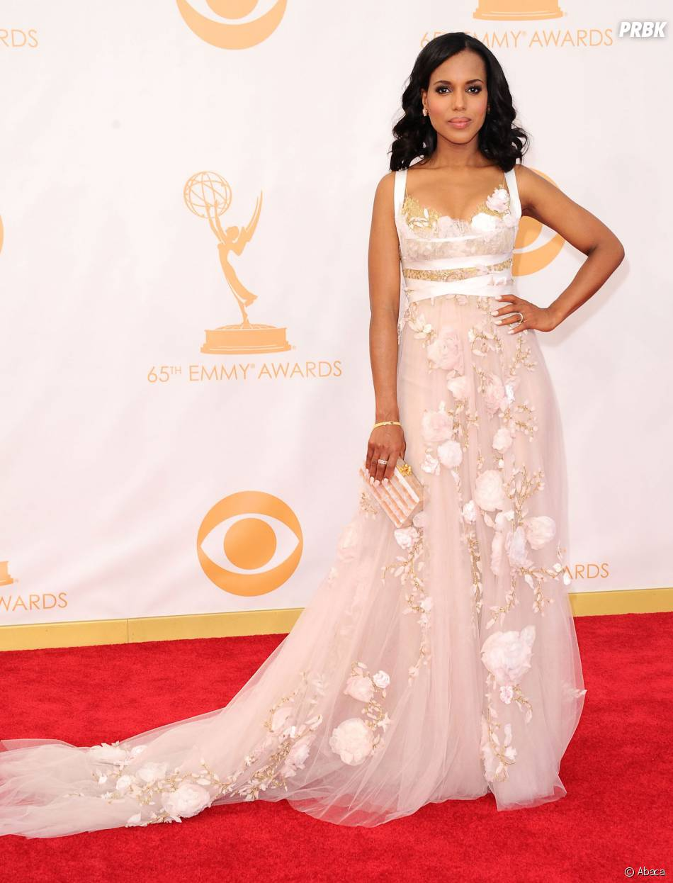 Kerry Washington aux Emmy Awards 2013 le 22 septembre 2013 à Los Angeles