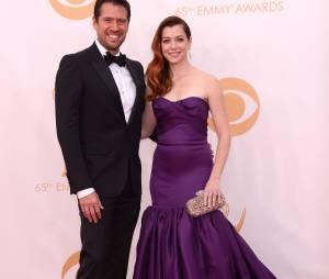 Alexis Denisof et Alyson Hannigan aux Emmy Awards 2013 le 22 septembre 2013 à Los Angeles