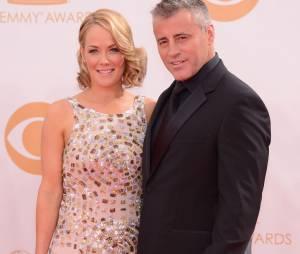Matt Leblanc et sa femme aux Emmy Awards 2013 le 22 septembre 2013 à Los Angeles