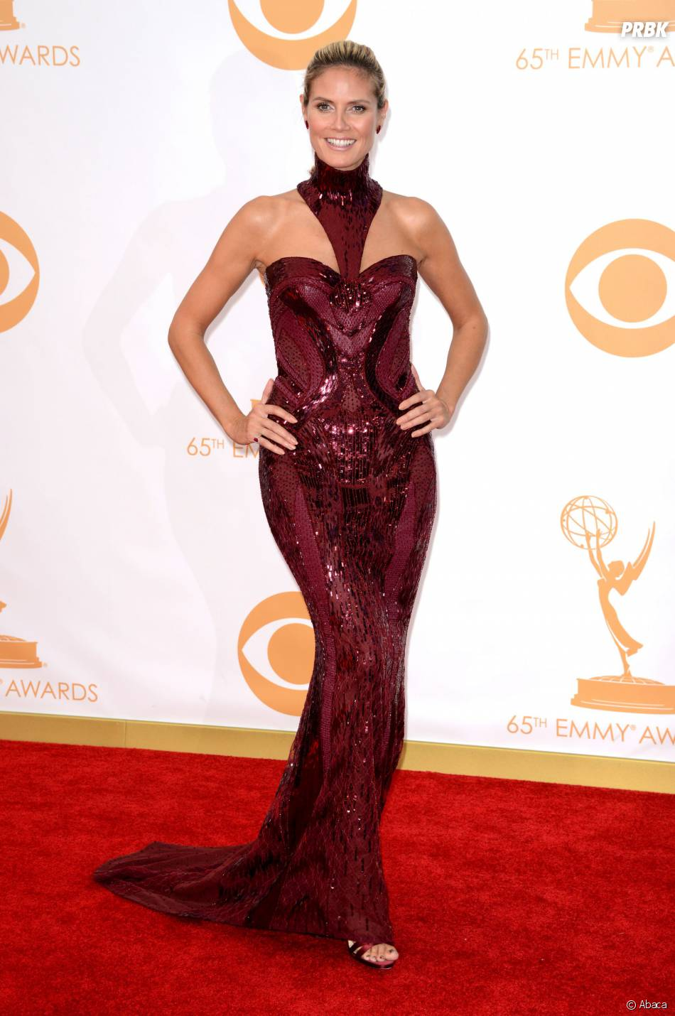 Heidi Klum aux Emmy Awards 2013 le 22 septembre 2013 à Los Angeles