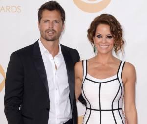 Brooke Burke et David Chavet aux Emmy Awards 2013 le 22 septembre 2013 à Los Angeles