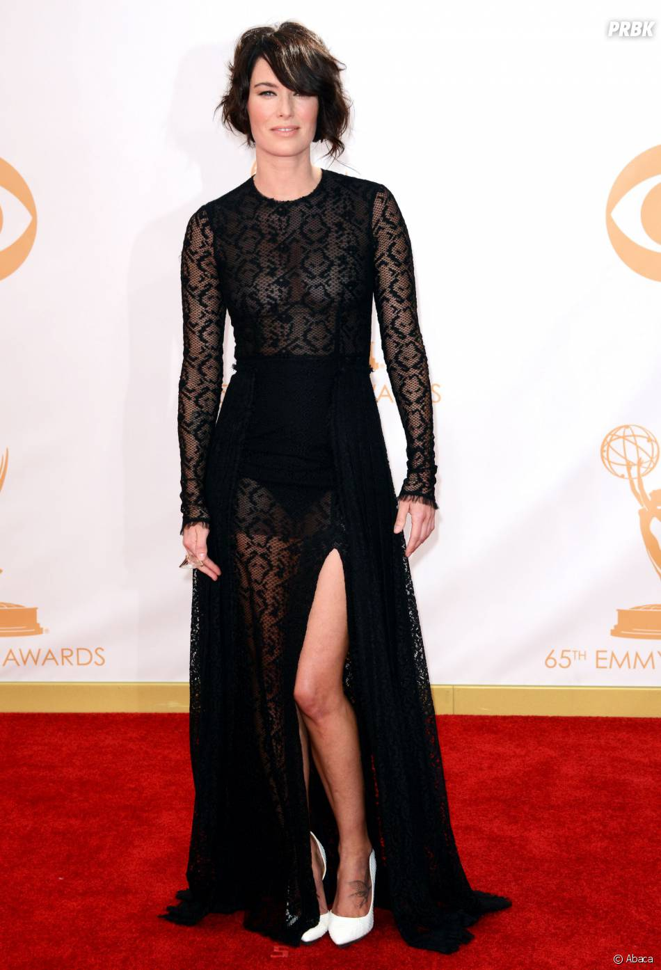 Lena Headey aux Emmy Awards 2013 le 22 septembre 2013 à Los Angeles