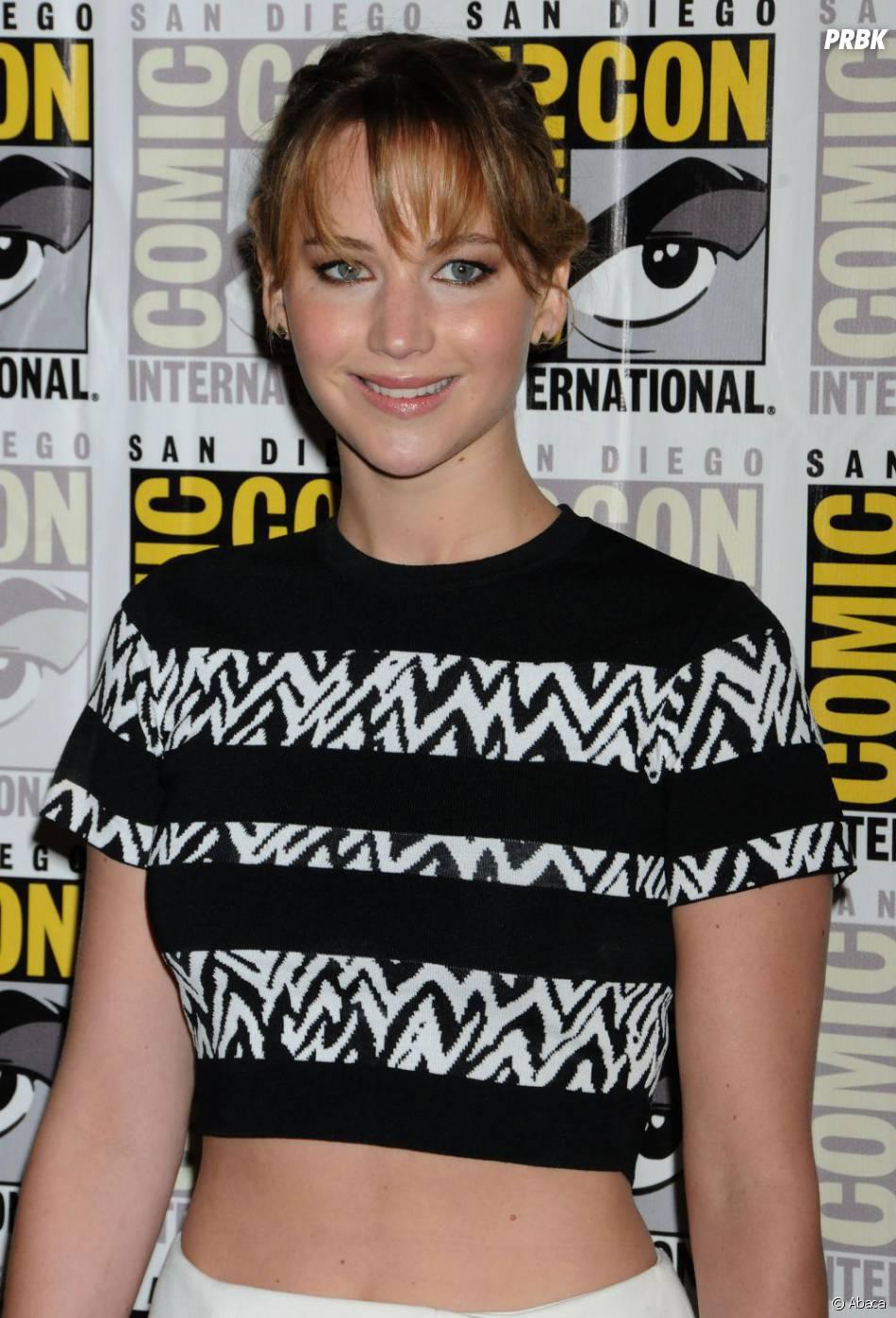 Jennifer Lawrence tout sourire au Comic Con 2013