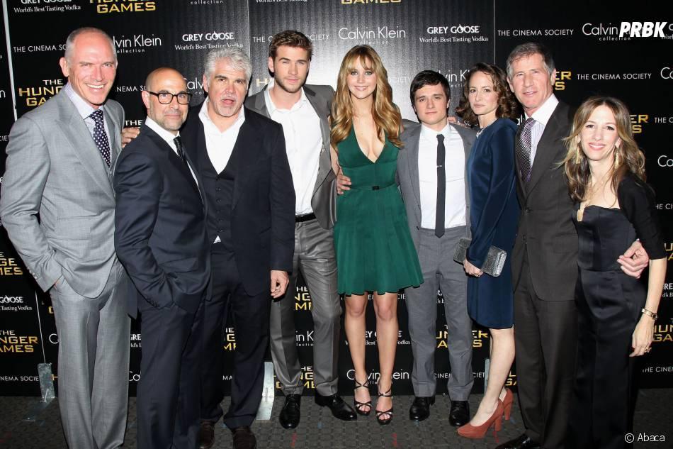 Jennifer Lawrence, Gary Ross et toute l'équipe d'Hunger Games le 20 mars 2012 à New York