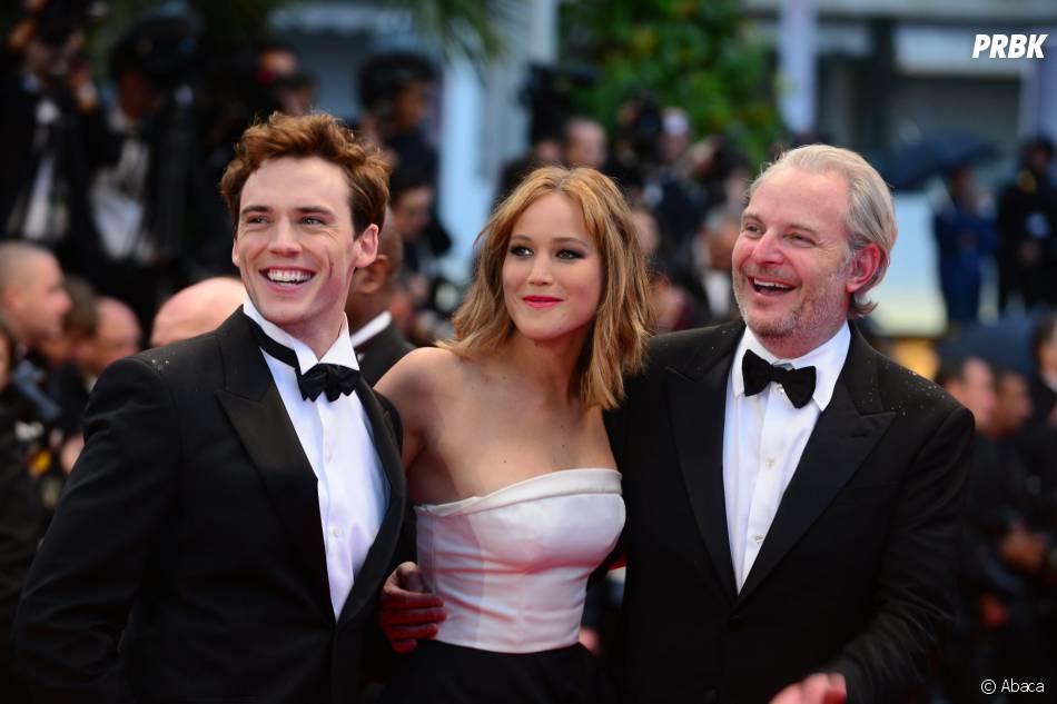 Sam Claflin, Jennifer Lawrence et Francis Lawrence au festival de Cannes 2013