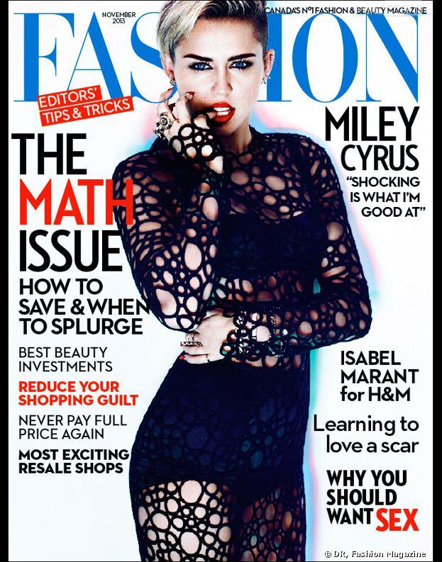 Miley Cyrus sexy en Une du magazine Fashion