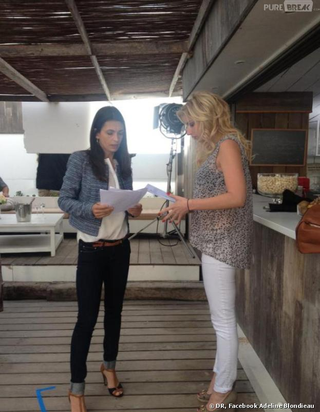 Nadège Lacroix en mode rajouts sur le tournage de Sous le Soleil.