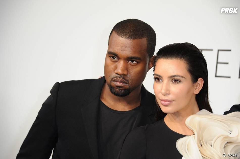 Kanye West et Kim Kardashian pendant la Fashion Week de Paris, le 3 juillet 2012