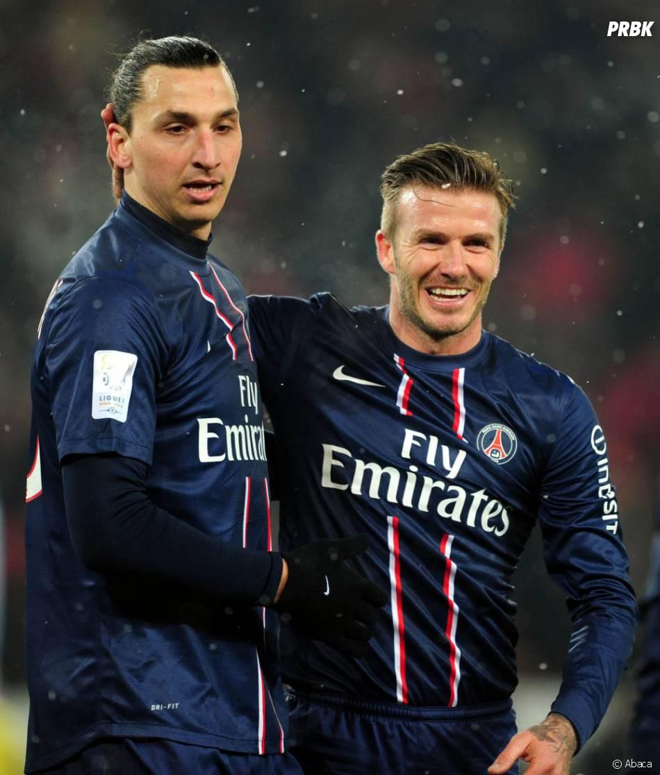 Zlatan Ibrahimovic et son ex coéquipier, David Beckham
