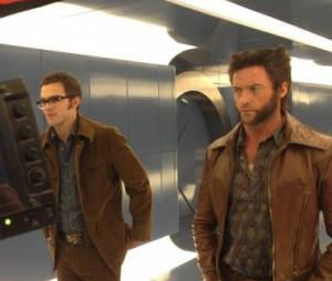 Nicholas Hoult et Hugh Jackman dans X-Men Days of Future Past