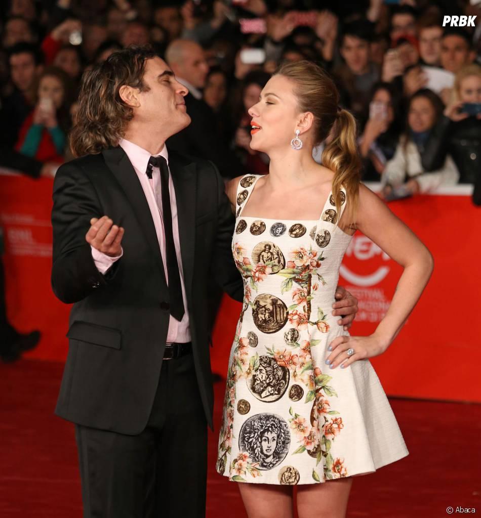 Joaquin Phoenix et Scarlett Johansson à Rome, le 10 novembre 2013
