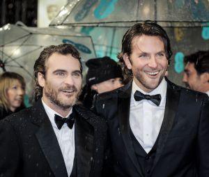 Joaquin Phoenix et Bradley Cooper à Londres, le 10 février 2013