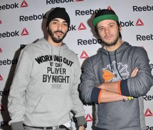 Orelsan et Gringe, les Casseurs Flowteurs, à l'ouverture du concept store Reebok à Paris, le 4 décembre 2013