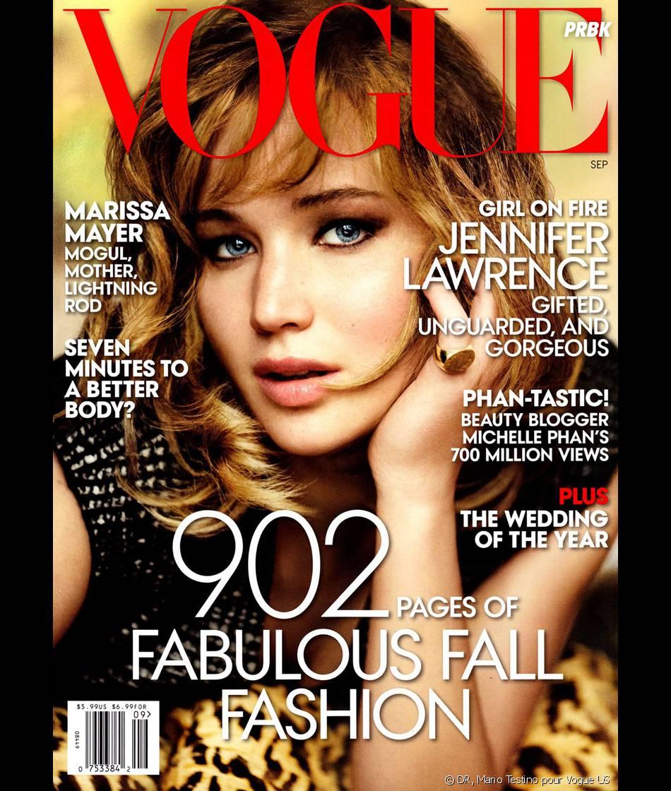 Jennifer Lawrence en couverture du Vogue US du mois de septembre 2013