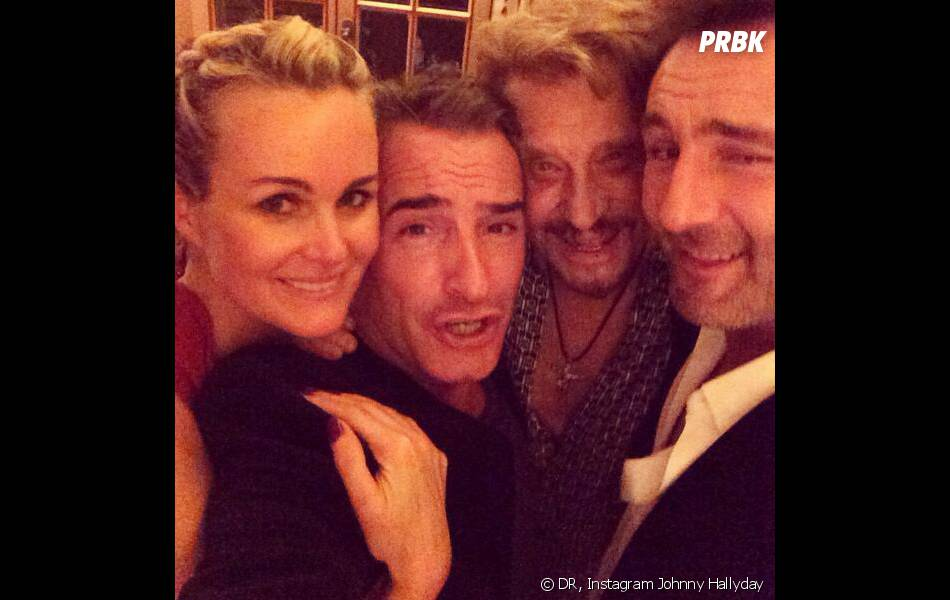 Jean dujardin gilles lellouche et johnny hallyday r unis for Dujardin johnny