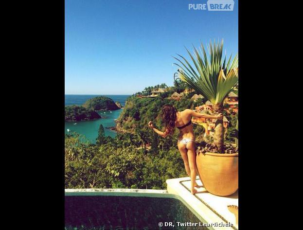 Lea Michele : une photo sexy de ses vacances au Mexique dévoilée sur Twitter
