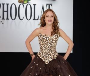Dounia Coesens au Salon du Chocolat 2013