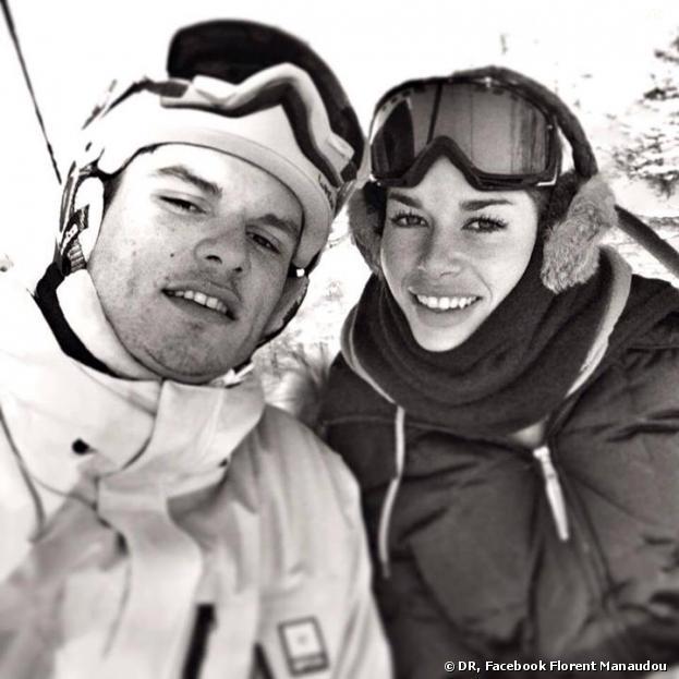 Florent Manaudou en couple au ski en décembre 2013
