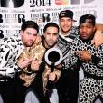 Rudimental gagnants aux Brit Awards 2014 le 19 février à Londres