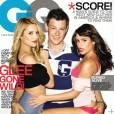 Lea Michele, Cory Monteith et Dianna Agron en Une de GQ en 2010