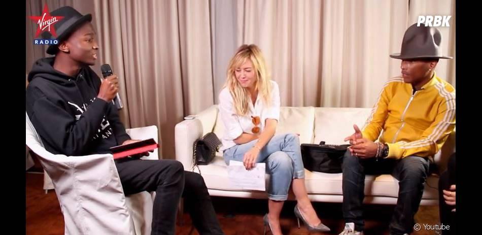 Pharrell Williams était l'invité d'Enora Malagré et Stéphane Bak dans Enora le Soir sur Virgin Radio le 24 février 2014