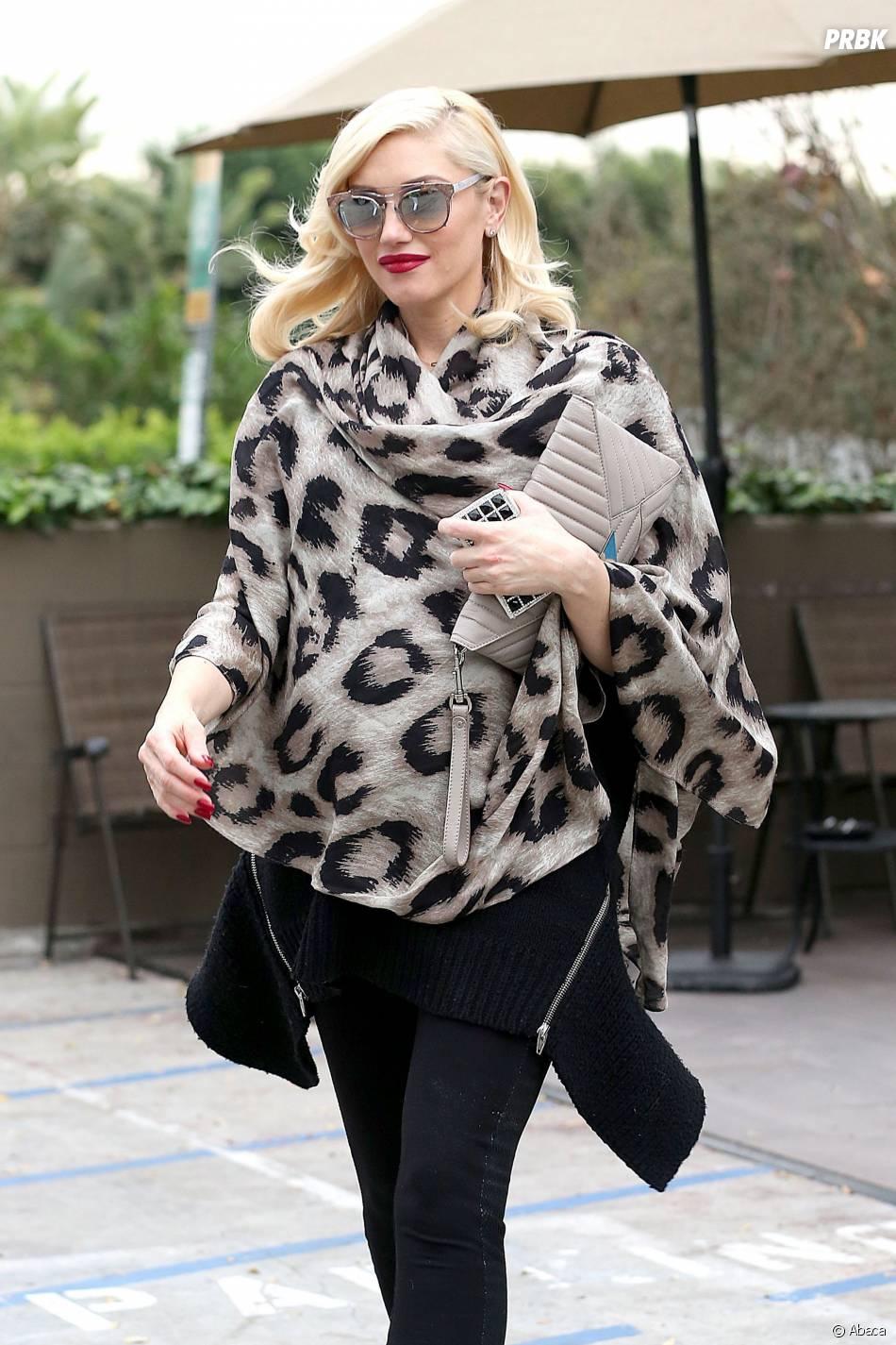 Gwen Stefani : une femme enceinte stylée, le 7 janvier 2014 à Los Angeles
