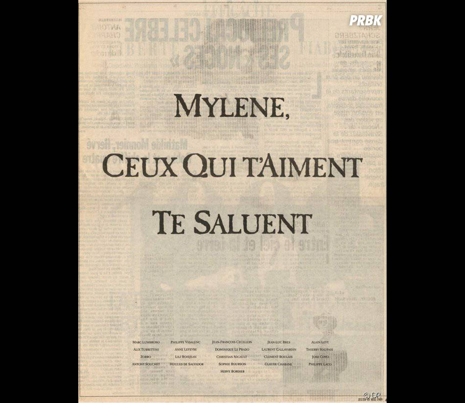 Mylène Farmer : en 1989, ses proches lui avaient offert une pleine page dans Libération avant son premier grand concert