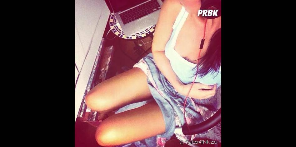Giuseppe Ristorante : Nikki en mode selfie sur son compte Twitter