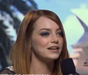 Emma Stone pleure à cause de Mel B des Spice Girls en mars 2014