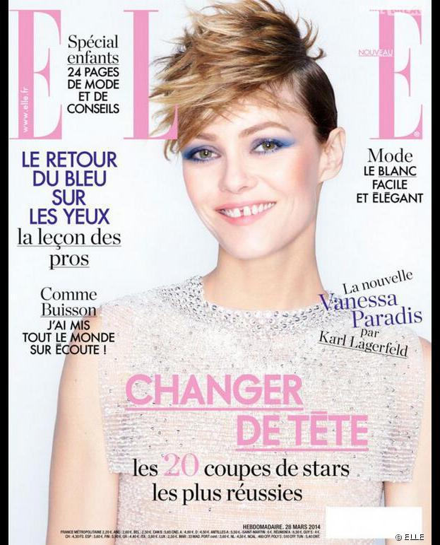 Vanessa Paradis en Une du magazine ELLE, en kiosques le 28 mars 2014