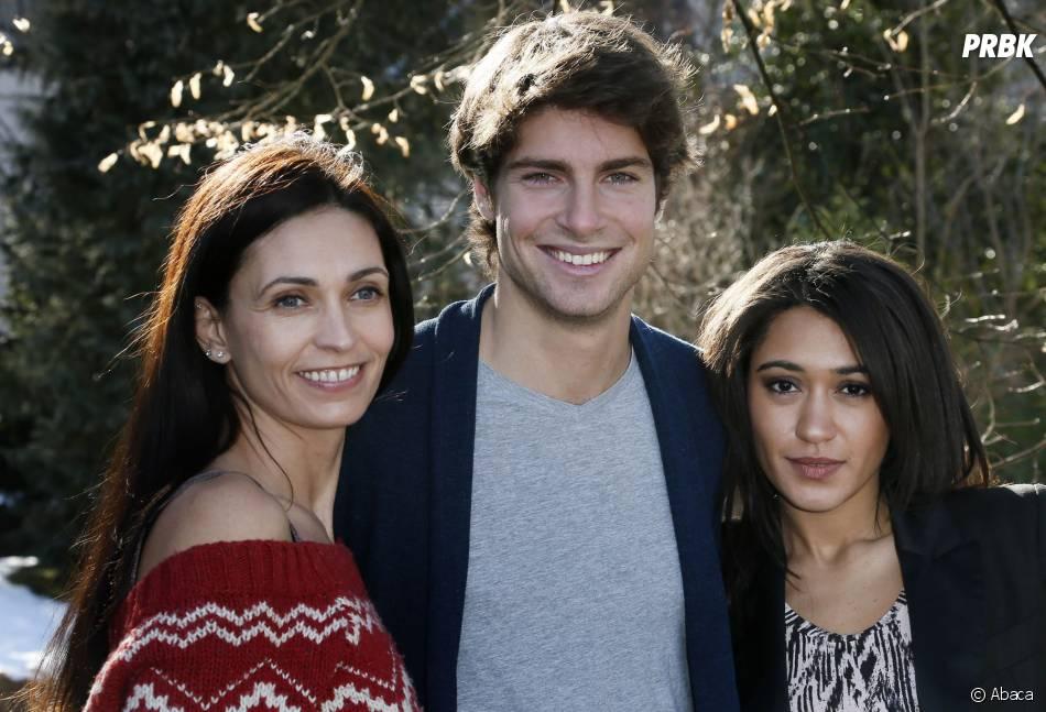 Tom Leeb aux côtés d'Adeline Blondieau et Joséphine Jobert dans Sous le soleil de St Tropez