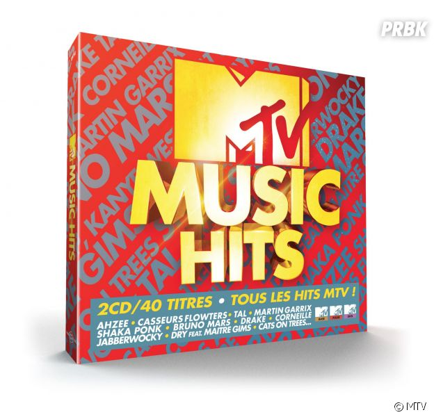 MTV Music hits : la compilation incontournable comprenant 40 tubes
