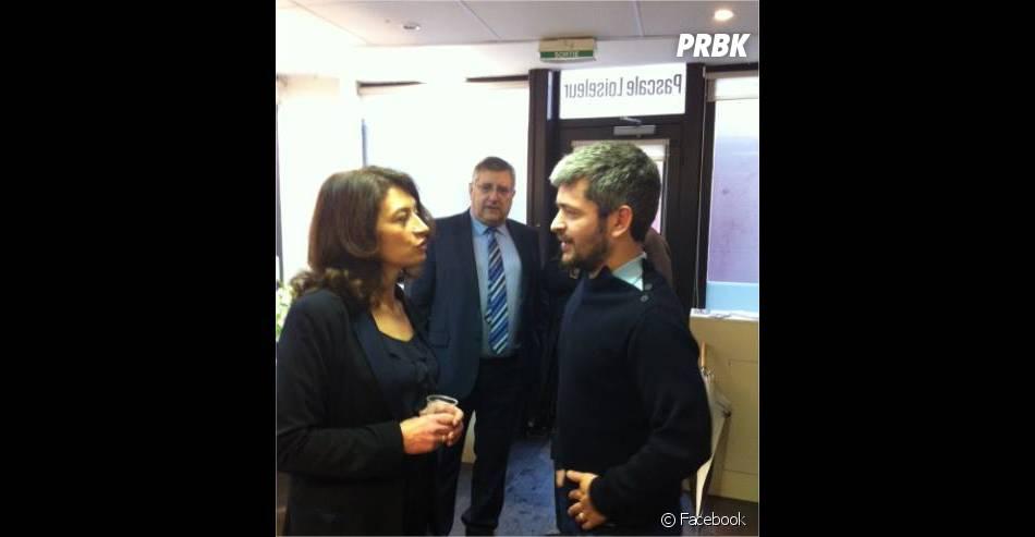 Grégoire et Pascale Loiseleur, maire sortante de Senlis, le 28 février 2014 sur Facebook
