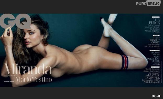 Miranda Kerr : elle pose nue et sexy en Une de GQ pour Mario Testino