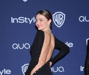 Miranda Kerr en robe fendue ultra sexy à l'After Party des Golden Globes à Los Angeles, le 12 janvier 2014