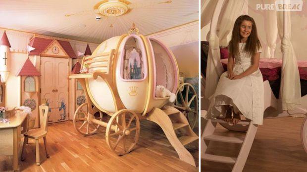 Photos 10 chambres qui vous donneront envie de retomber en enfance - Chambre princesse carrosse ...