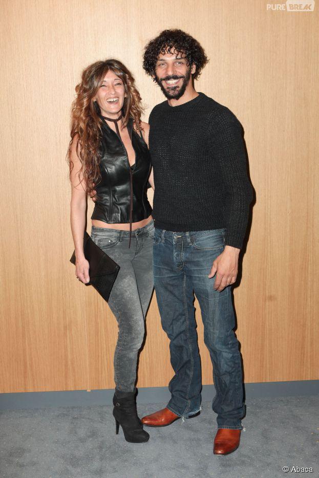 Tomer Sisley en couple à l'avant-première de Kidon le 6 mai 2014, au cinéma Pathé Beaugrenelle