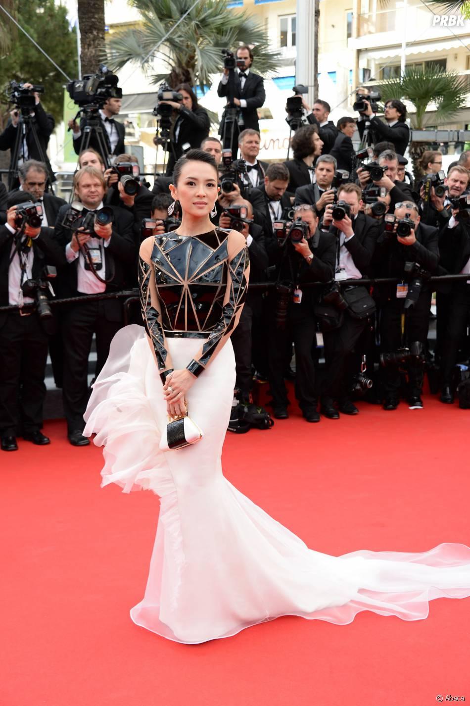 Zhang Ziyi sur le tapis rouge de l'ouverture du Festival de Cannes 2014, le 14 mai