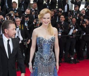 Nicole Kidman sur le tapis rouge de l'ouverture du Festival de Cannes 2014, le 14 mai